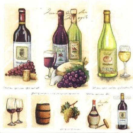 Χαρτοπετσέτα για Decoupage, Vintage Wine / 13306710