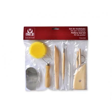 Σετ Εργαλεία για κεραμική / πηλό (8 τεμ)