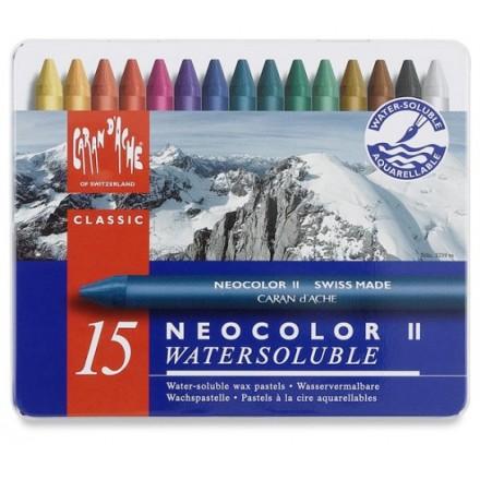 Neocolor II Watersoluble Caran d'Ache (15τεμ)