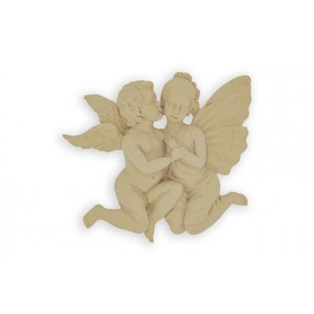Ξυλόγλυπτο Άγγελοι 18x15cm