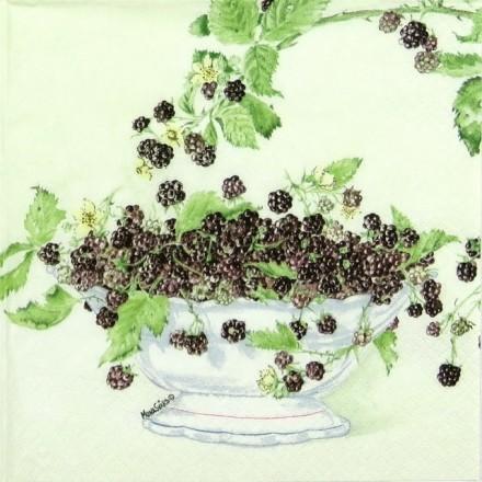 Χαρτοπετσέτα για Decoupage, Black Berries / 211203