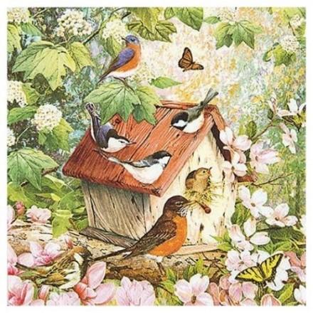 Χαρτοπετσέτα για Decoupage, Busy Birdhouse / 211404