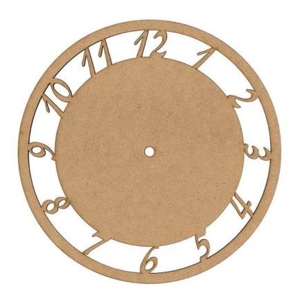 MDF Ρολόι με νούμερα Ø25cm x 3mm / 24108