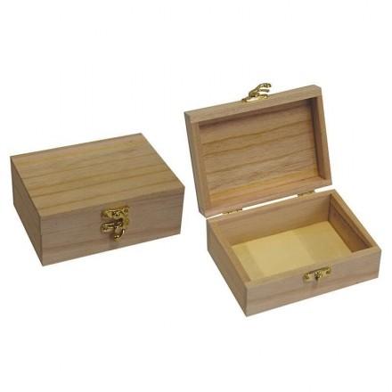 Ξύλινο Κουτί με κλείστρο 10x13.5x5.5cm / 24183