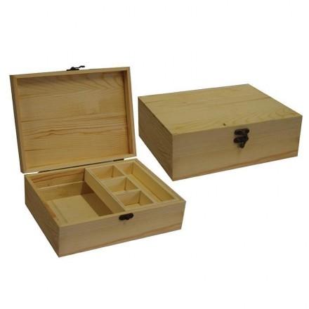 Ξύλινο Κουτί με κλείστρο 25x19,2x8,5cm / 24273