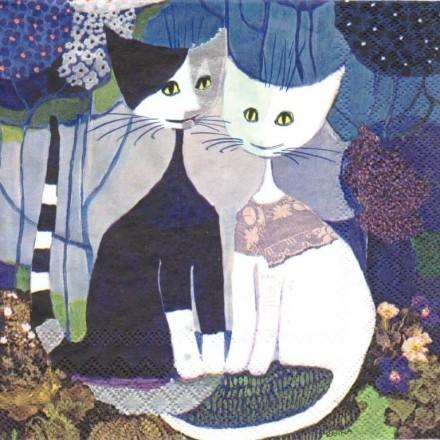 Χαρτοπετσέτα για Decoupage, Cats Wedding / 2572-7460-40