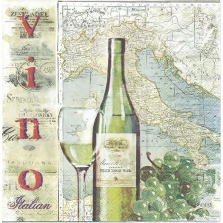 Χαρτοπετσέτα για Decoupage, Italia Wine / 2572-7518-45
