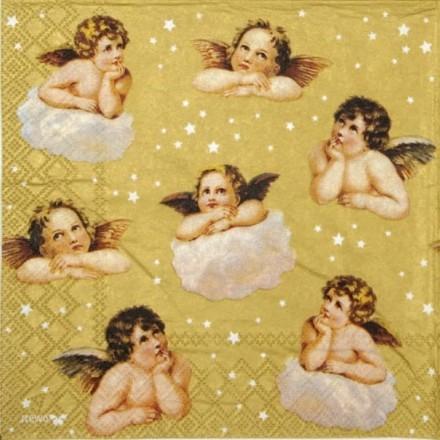 Χριστουγεννιάτικη Χαρτοπετσέτα για Decoupage, Angel / 2572-7986-80