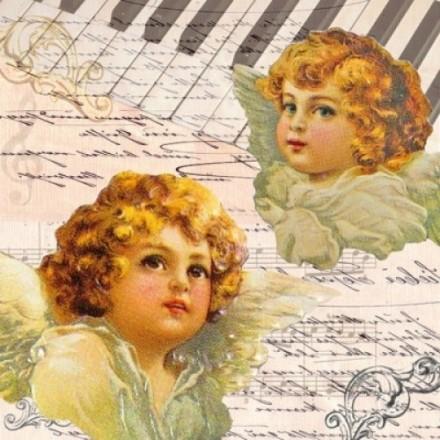 Χαρτοπετσέτα για Decoupage, Angels faces / 33304245