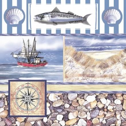 Χαρτοπετσέτα για Decoupage, Maquereau / 370350