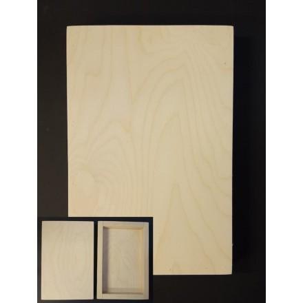 3D Ξύλινο Πλαίσιο (τύπου καμβάς) 20x30cm για Εικόνα, Πυρογραφία, Decoupage, Mixed Media κλπ