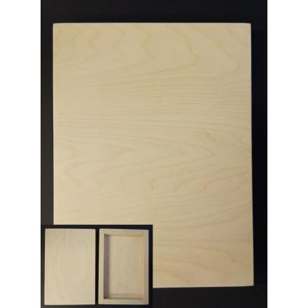 3D Ξύλινο Πλαίσιο (τύπου καμβάς) 30x40cm για Εικόνα, Πυρογραφία, Decoupage, Mixed Media κλπ