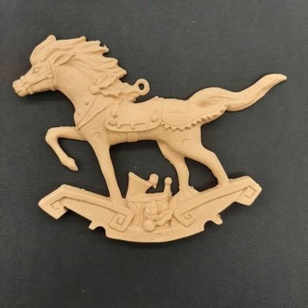 Ξυλόγλυπτο Διακοσμητικό Άλογο 12x10cm