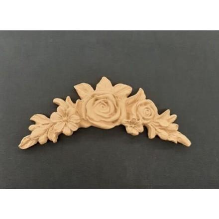 Ξυλόγλυπτο Λουλούδι Γιρλάντα 15.7x6.2cm