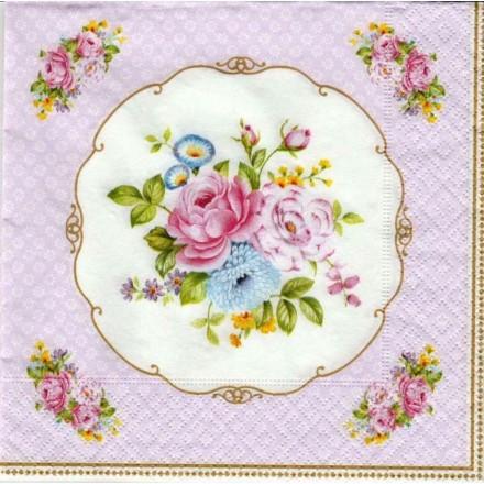 Χαρτοπετσέτα για Decoupage, Bouquet White / 414-WHIT