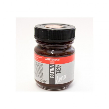 Amsterdam Deco Patina 50ml (Talens), Antique Brown