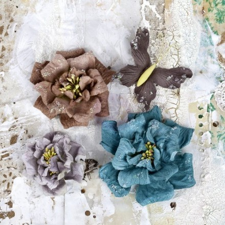 Σετ Διακοσμητικά Λουλούδια (Urbana Paper Flowers & Butterfly Collection, 4τεμ)