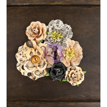Σετ Διακοσμητικά Λουλούδια (Paper Flowers - Drifter, 6τεμ)