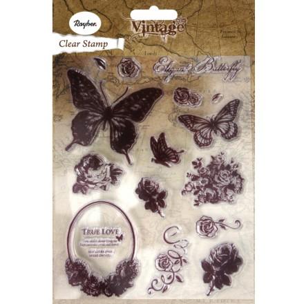Σετ Σφραγίδες Σιλικόνης, 15τμχ, 1-7.3cm, Butterfly