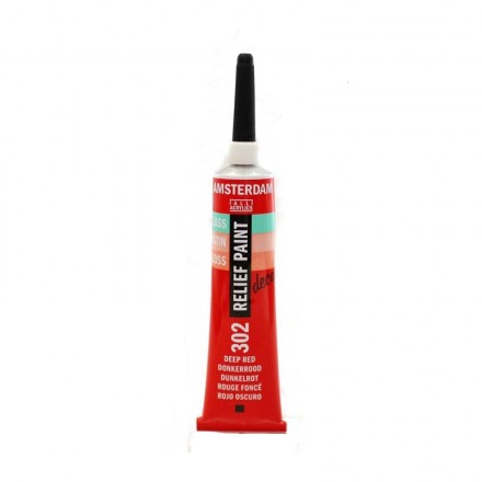 Amsterdam Relief 20ml (Talens), Deep Red