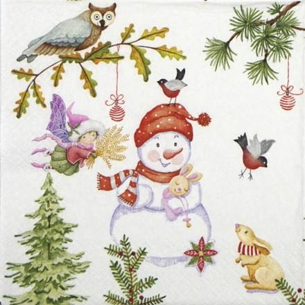 Χαρτοπετσέτα για Decoupage, Playful Fairies Winter / 611420