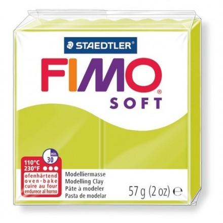 Staedtler Πηλός Fimo Soft 56gr (Green Lime) 8020-52
