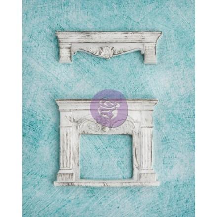 Διακοσμητικά από ρητίνη Prima (Shabby Chic Treasures, Fireplace, 2τεμ)