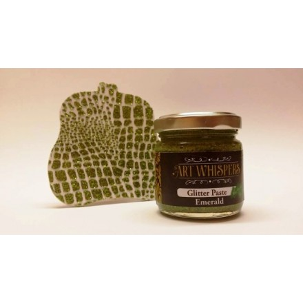 Glitter Paste Art Whispers 100ml, Emerald