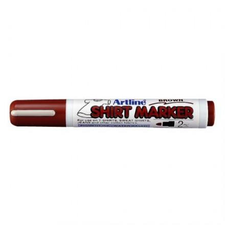 Μαρκαδόροι Υφάσματος Artline T-Shirt marker EK-2 (2mm, Καφέ)