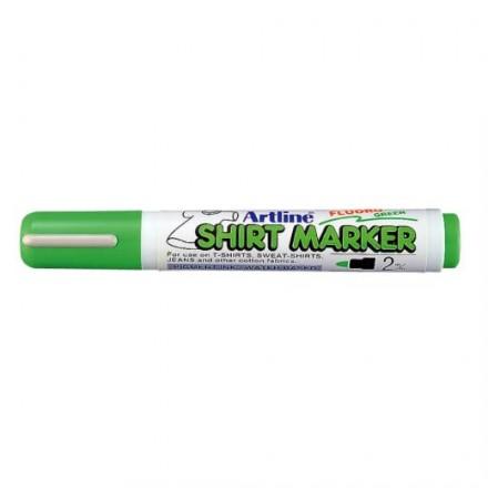 Μαρκαδόροι Υφάσματος Artline T-Shirt marker EK-2 (2mm, Φθορίζον Πράσινο)