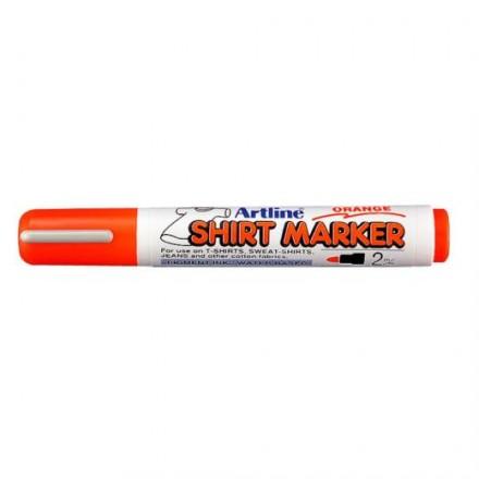 Μαρκαδόροι Υφάσματος Artline T-Shirt marker EK-2 (2mm, Πορτοκαλί)