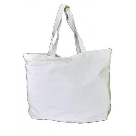 Τσάντα Καραβόπανο Λευκή (50 x 40cm)