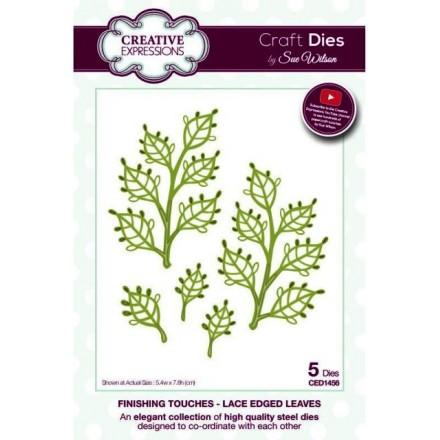 Sue Wilson Dies Finishing Touches Collection, Lace Edged Leaves Die Set