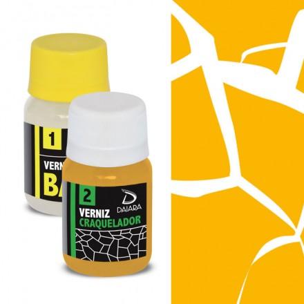 Daiara Kit Craquelê (2 x 40ml) - Transparente Amarelo Queimado / Καμένο Κίτρινο