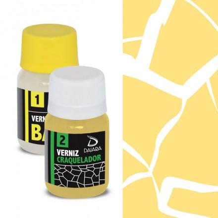 Daiara Kit Craquelê (2 x 40ml) - Brilhante Amarelo Claro / Ανοιχτό Κίτρινο