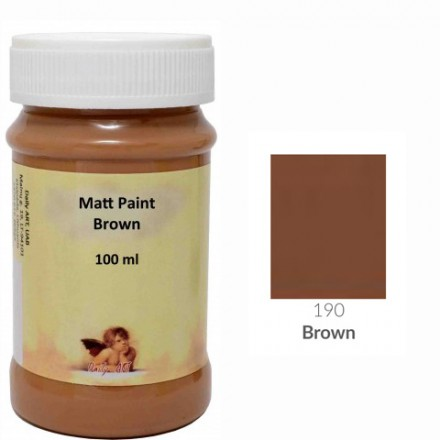 Matt Paint DailyArt 100ml, Brown