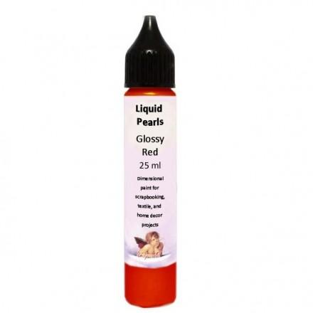 Liquid Pearls 25ml (DailyArt), Glossy Red