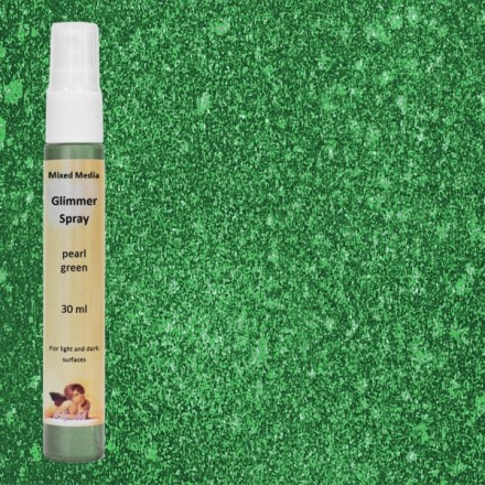 Mixed Media Glimmer Spray Ink 30ml (DailyArt), Pearl Green