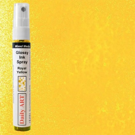 Mixed Media Glossy Ink Spray 30ml DailyArt, Royal Yellow