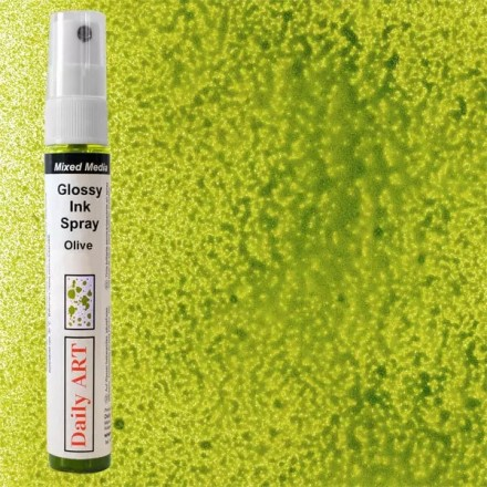 Mixed Media Glossy Ink Spray 30ml DailyArt, Olive