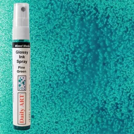 Mixed Media Glossy Ink Spray 30ml DailyArt, Pine Green