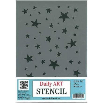 Στένσιλ (Stencil) DailyArt 14x20cm, Stars / DA17ST0118