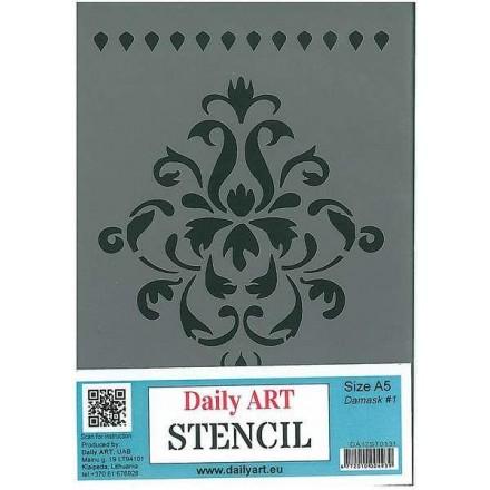 Στένσιλ (Stencil) DailyArt 14x20cm, Damask / DA17ST0131