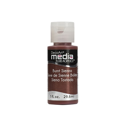 DecoArt Media Fluid Acrylics - Burnt Sienna