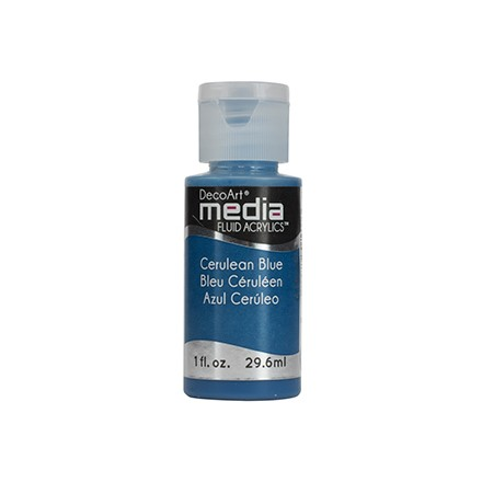 DecoArt Media Fluid Acrylics - Cerulean Blue