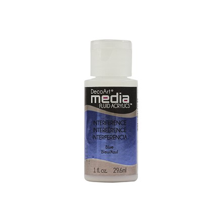 DecoArt Media Fluid Acrylics - Blue Interference