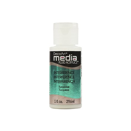 DecoArt Media Fluid Acrylics - Turquoise Interference