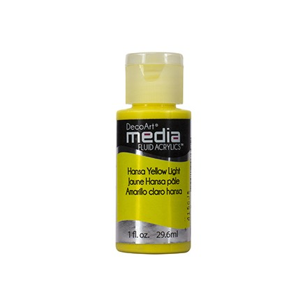 DecoArt Media Fluid Acrylics - Hansa Yellow  Light