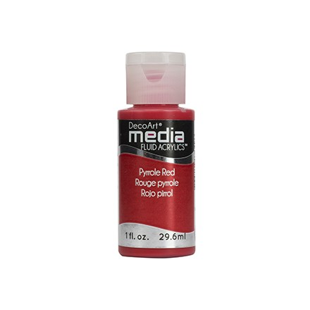 DecoArt Media Fluid Acrylics - Pyrrole Red