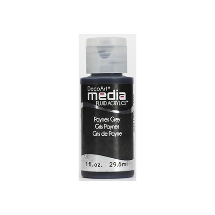 DecoArt Media Fluid Acrylics - Payne's Grey